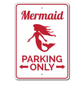 Mermaid Parking Sign