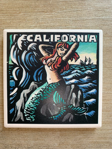 Cali Coaster Mermaid Scratch board