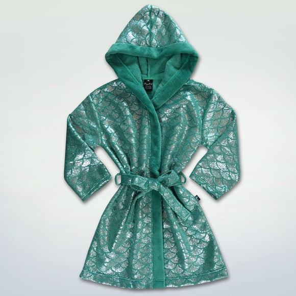 Cape Cali Kids Luxury Robe Ariel Green