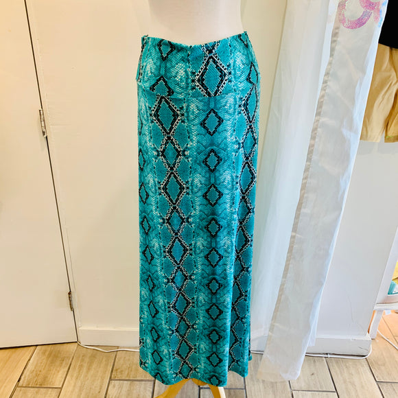 Boho Diamond Scales Maxi Skirt