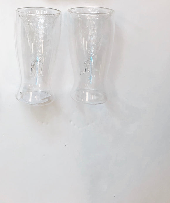Mermaid tail glass