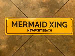 Mermaid X-ing Yellow Newport Beach