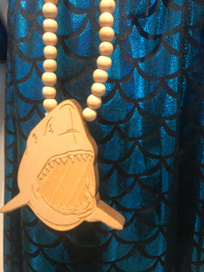 Good wood shark necklace