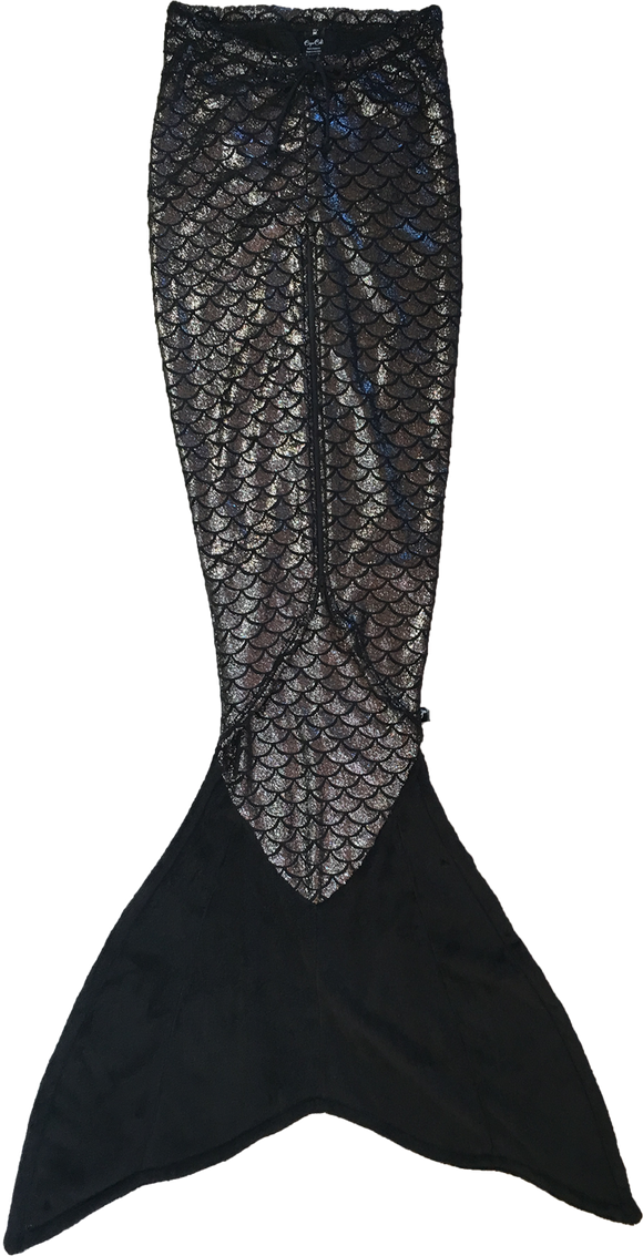 Cape Cali Walkable Mermaid Tail in Onyx