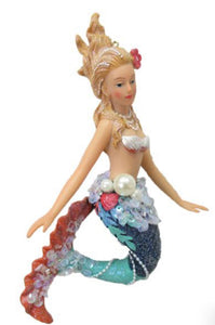 "Blue and Pink 6"" JEWEL MERMAID ORNAMENT"