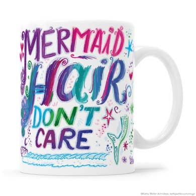 Mermaid hair don't care mugs