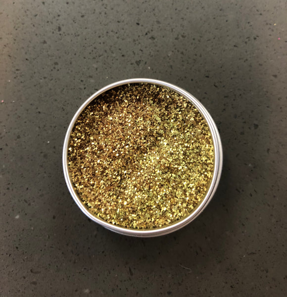Pure gold biodegradable glitter
