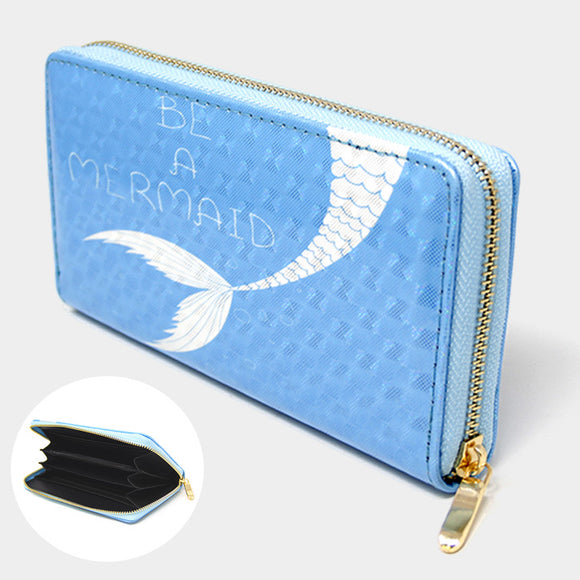Be A Mermaid Hologram Wallet
