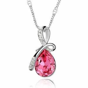 Mermaid Tear Necklace Pink