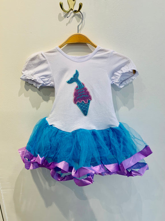 Mermaid Ice Cream Tutu Dress