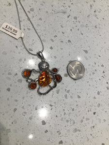 Baltic Amber Octopus Necklace