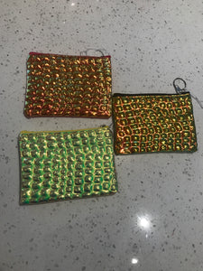 Mermaid iridescent scale pouch