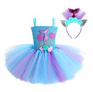 Mermaid Mesh Tutu Dress