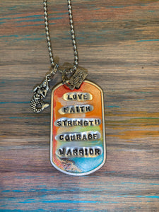 Love faith strength necklace