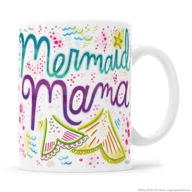 Mermaid mamma mug