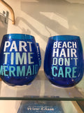 Blue Beach Saying Cups