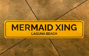 Mermaid X-ing Yellow Laguna Beach