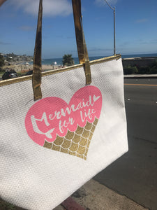 Mermaid for life bag