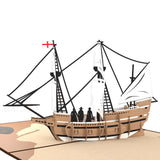 Mayflower Ship Lovepop Card