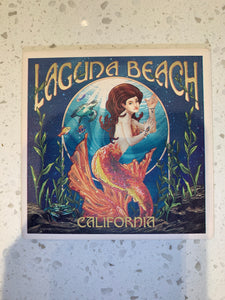 Laguna Beach Orange Mermaid Coaster