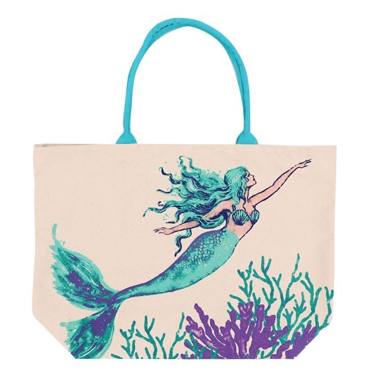 Mermaid Print Tote