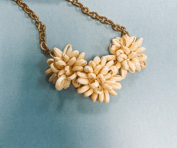 Puka shell cluster necklace