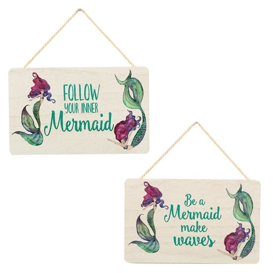 Mermaid Sayings wall sign