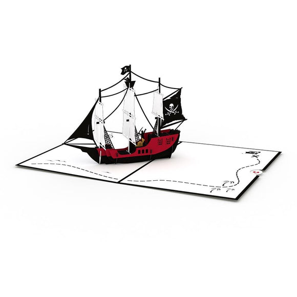 Pirate Ship Lovepop Card