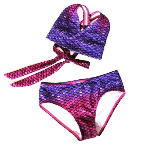 Bali Blush Children Mermaid Bikini Set