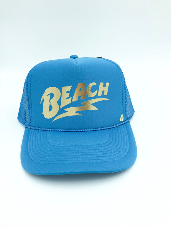 BEACH mother trucker hat
