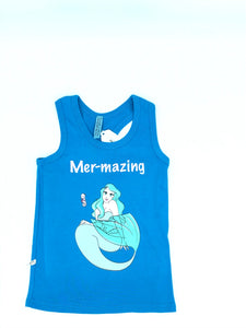Mermazing blue tank top