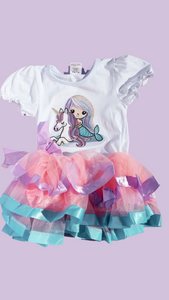 Mermaid Unicorn TuTu