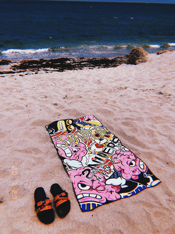 SG Beach Towel: Emoji Pattern