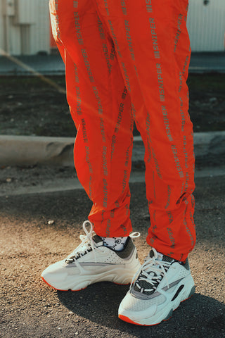 Snipers Stripes Windbreaker Joggers (Orange)