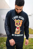Heartless Long Sleeve Tee (Black)