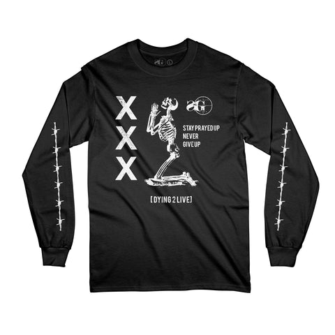 Prayed Up Long Sleeve - BLK (Pre-Sale Ships 12/21 or sooner)