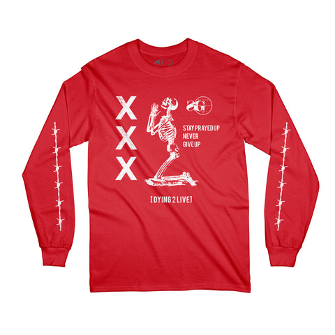 Prayed Up Long Sleeve - Red