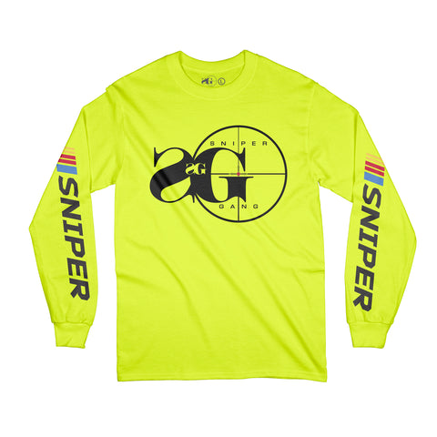 Sniper Gang Logo NASCAR LS (Safety Green)