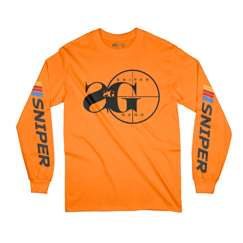 Sniper Gang Logo NASCAR LS (Safety Orange)