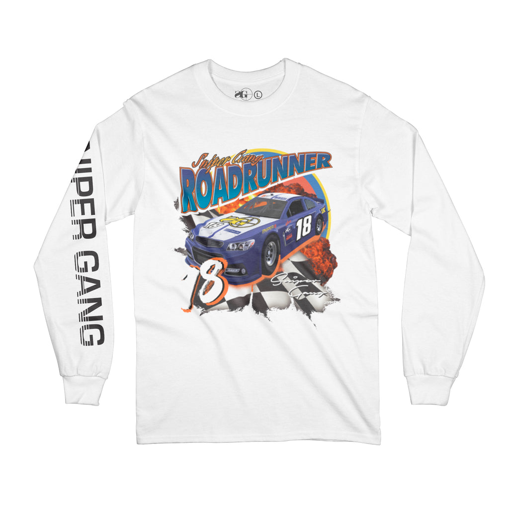 Road Runner Racer Longsleeve (White)
