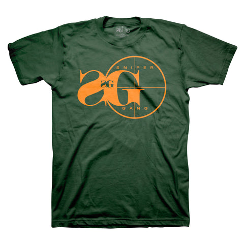 Sniper Gang Logo GRN/ORANGE