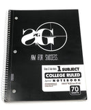 Aim For Success Pack (notebook + 1 pencil & eraser)