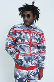 STRAPPED-UP JACKET (red/grey)