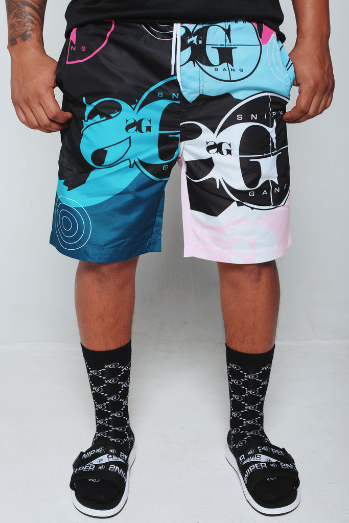 Tutorial Beach Shorts (Blue)
