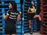 Womens: Real Eyes Body Suit (Neon Yellow)