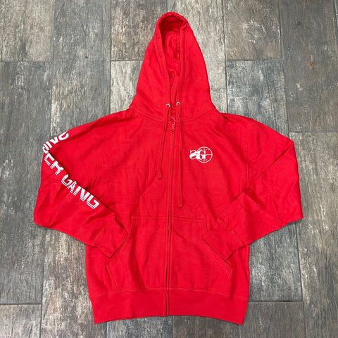 SG Logo Zip-Up Hoodie (Red)