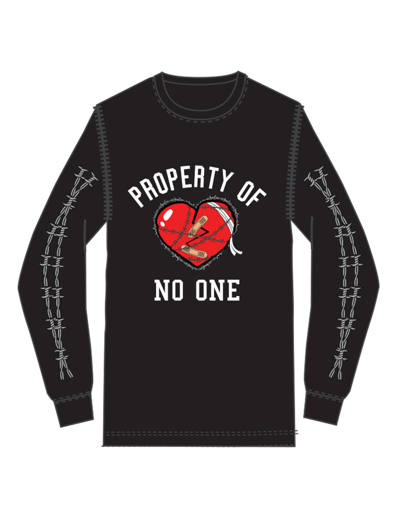 PROPERTY OF NO ONE L/S TEE (Black)