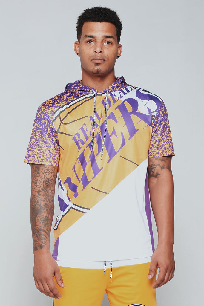 Real Deal Snipers SS Hood Tee (Lakers)