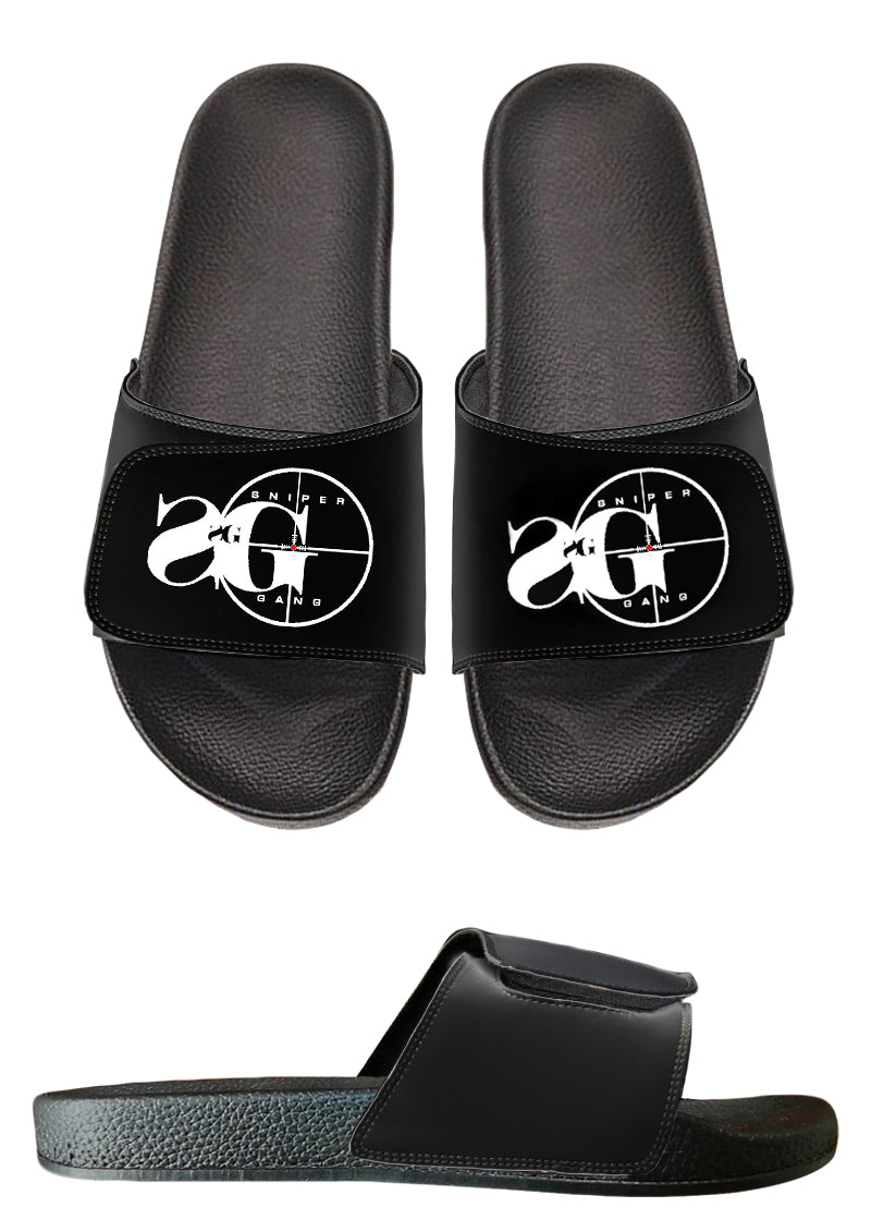 sg slides black sniper gang apparel