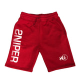 Sniper Sweat Shorts (RED)